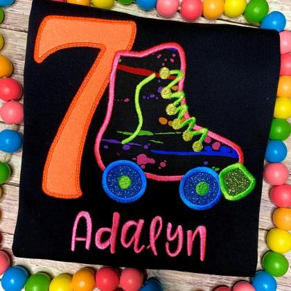 Neon Birthday Shirt / Roller Skate ..