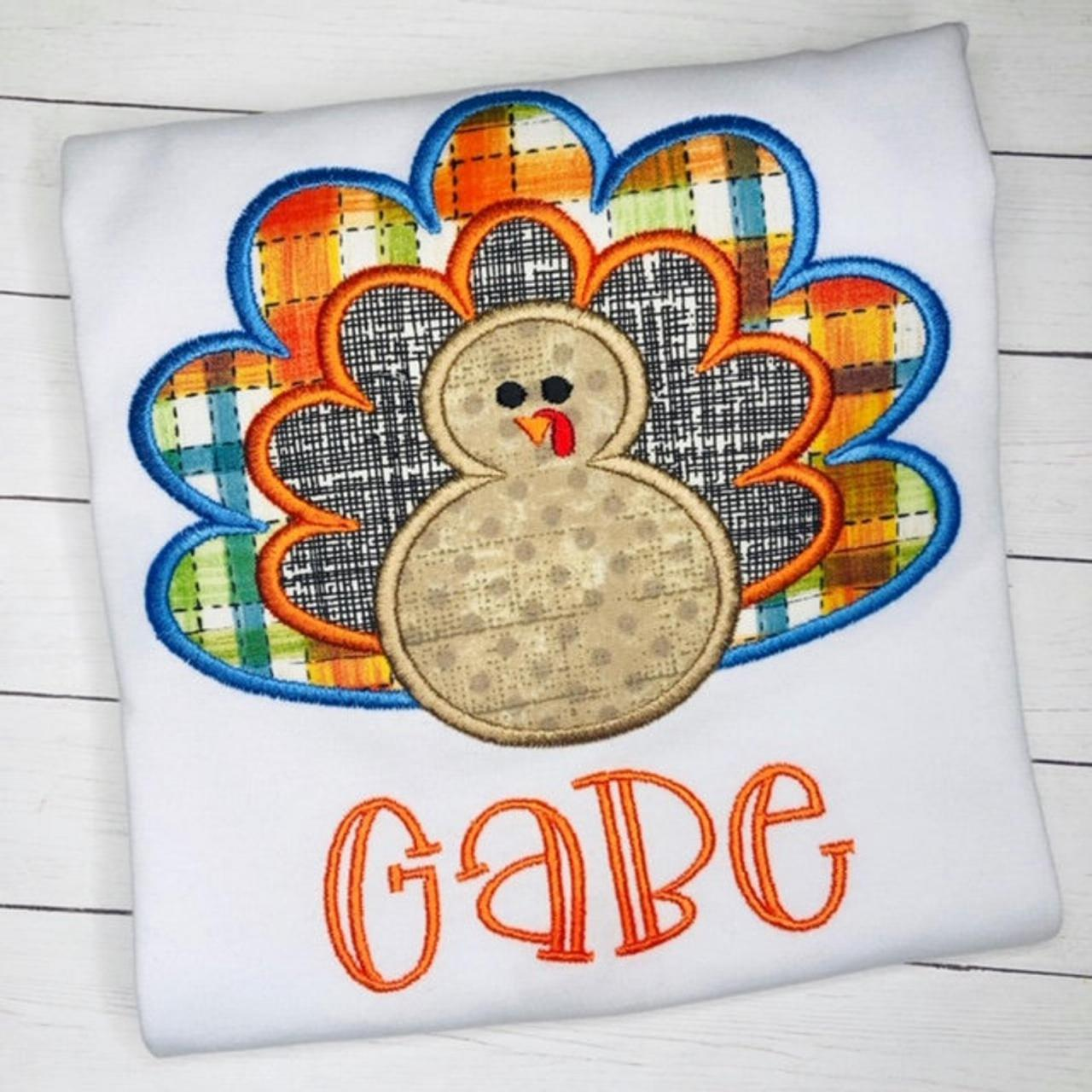 Turkey shirt / Thanksgiving / Thanksgiving Turkey Shirt / Thanksgiving Shirt / Boys Turkey Shirt / Boy Fall Shirt / Monogram