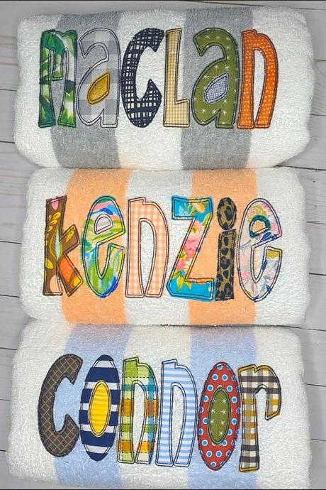 Personalized Beach Towel / Monogrammed Beach Towel /Cabana Beach Towel / Kids Beach Towels / Pool towel / Custom Beach Towel / Beach Towel