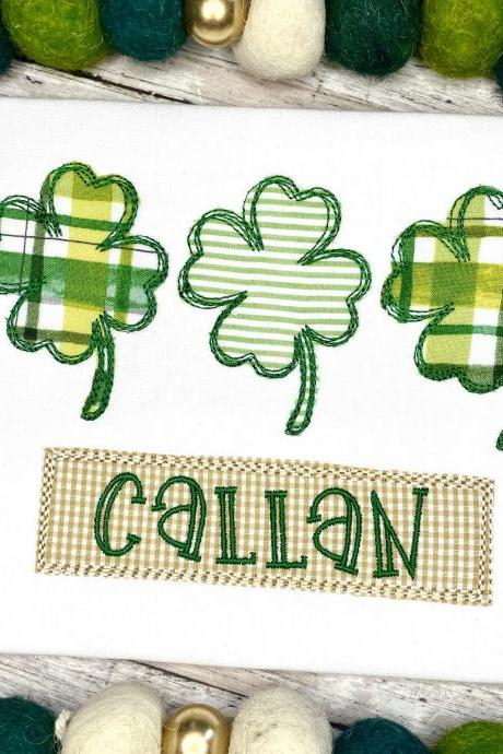 St. Patrick's Day Shirt / Embroidered Shamrock Shirt / Shamrock Shirt / Custom Embroidered Shirt / Leprechaun Shirt / Monogram