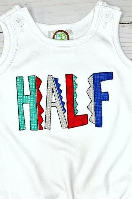 Half Birthday Bubble Romper / Half Birthday Sun Bubble / Romper / Toddler Romper / Summer Romper / Sun Bubble
