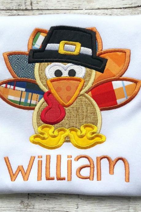 Turkey shirt / Pilgrim shirt / Thanksgiving Turkey Shirt / Thanksgiving Shirt / Boys Turkey Shirt / Boy Fall Shirt / Monogram