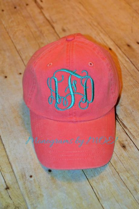 Custom Monogrammed Ladies Baseball Style Cap